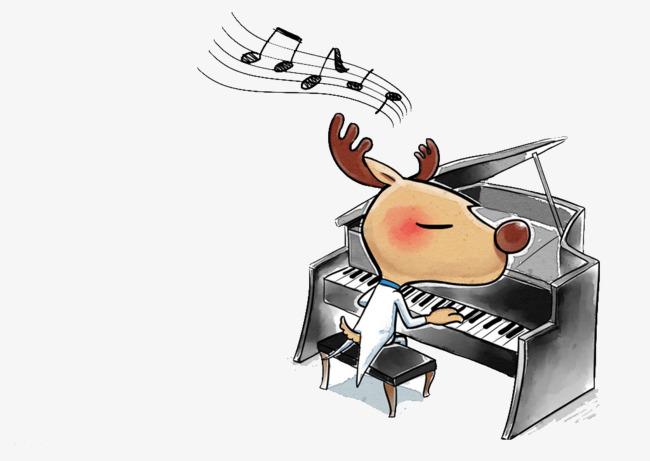 图片 卡通动物 > 【png】 动物也会弹钢琴  分类:装饰元素 类目:其他