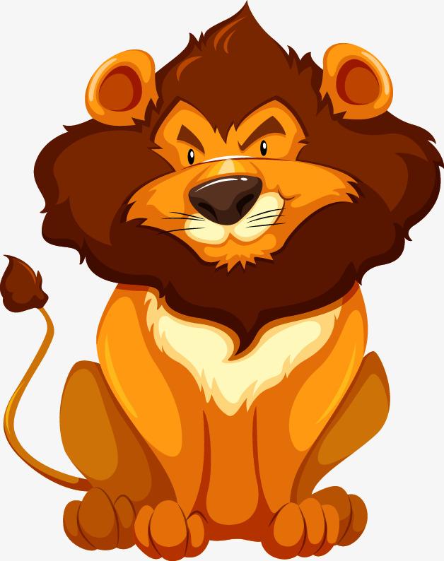 手绘狮子黑暗美少女