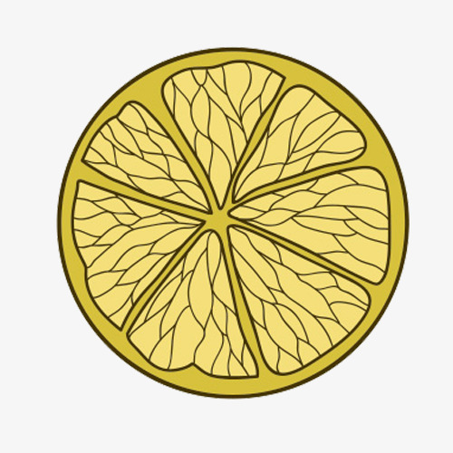 柠檬片手绘