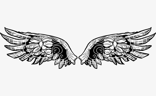 矢量纹身图腾翅膀