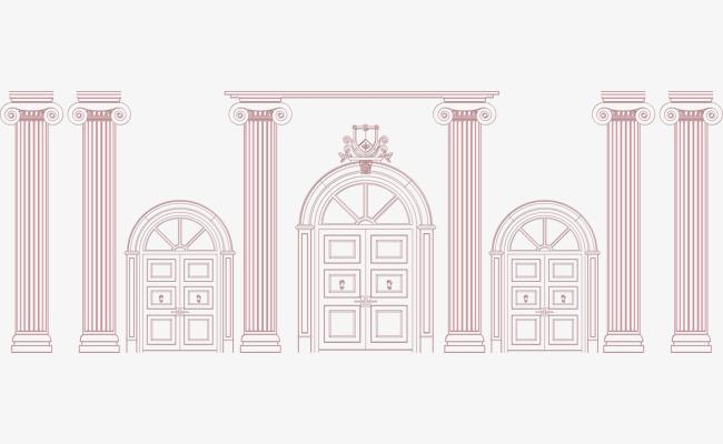 欧式建筑圆柱罗马柱门