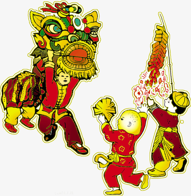 幼儿园元旦舞狮