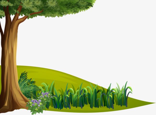 手绘卡通_手绘大树png素材-90设计