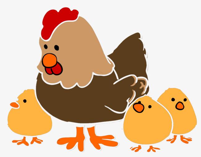 图片 卡通小鸡 > 【png】 母鸡和小鸡  分类:手绘动漫 类目:其他 格式