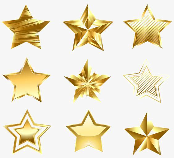 金色五角星图片背景素材免费下载,图片编号5116413_千