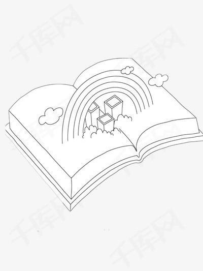 简笔画书本素材图片免费下载 高清装饰图案png 千库网 图片编号5111924