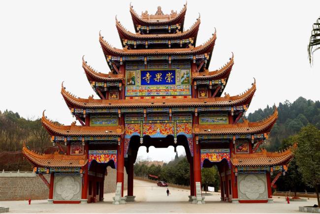 四川德阳崇果寺风景