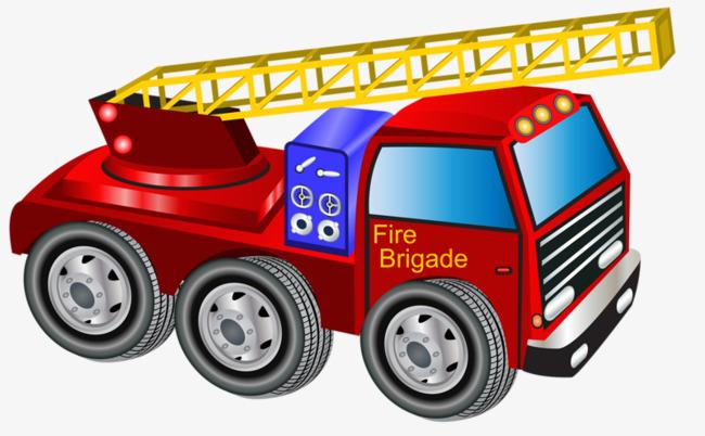 图片 > 【png】 卡通消防车  分类:手绘动漫 类目:其他 格式:png 体积