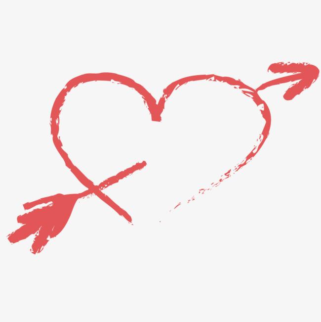 涂鸦射箭爱心