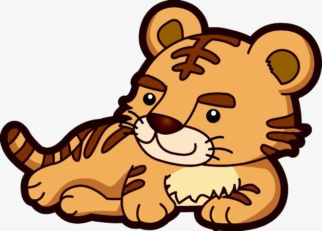 休息的可爱小老虎