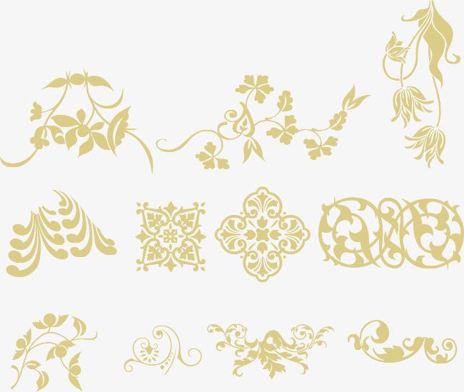 欧式花纹粗线条