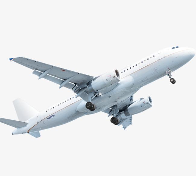 白色飞机【高清png素材】-90设计