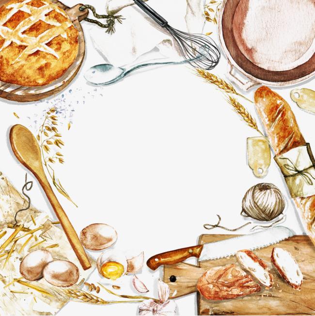 食物装饰边框