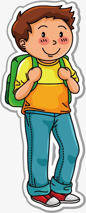 图片 > 【png】 卡通背书包男孩儿  分类:手绘动漫 类目:其他 格式