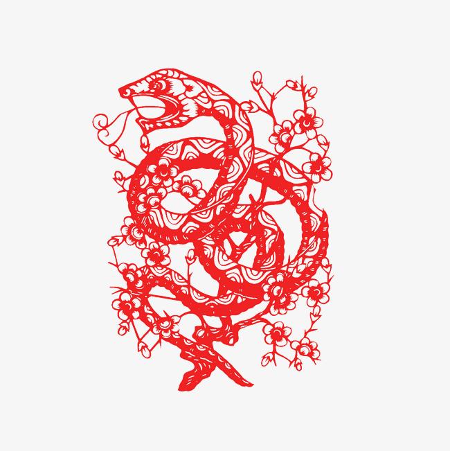 十二生肖剪纸之蛇
