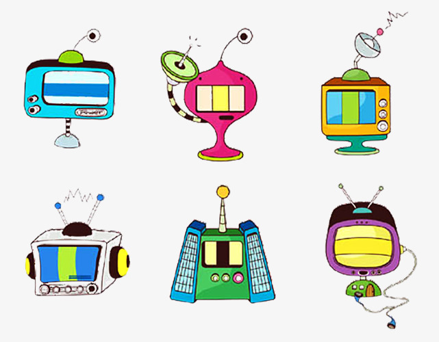 手绘机器人图标