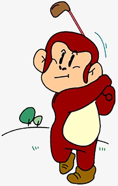 打高尔夫的猴子图片