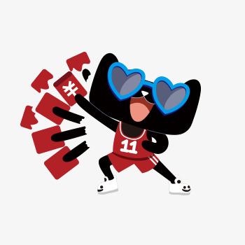 天猫logo撒红包卡通