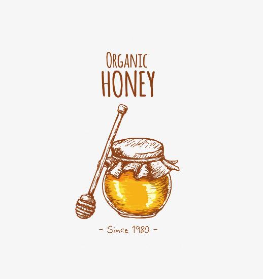 手绘蜂蜜瓶