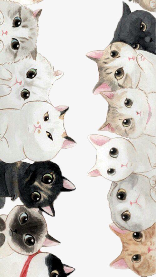 手绘写实猫咪