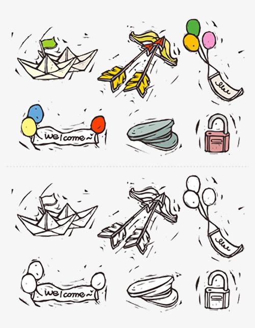 手绘玩具图标