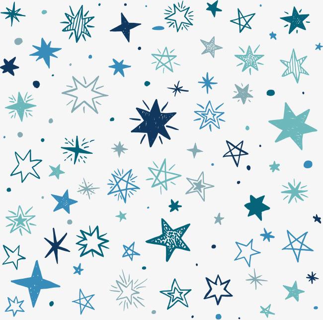 蓝色星星背景素材图片免费下载_高清装饰图案psd_千库网(图片编号图片