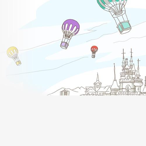 城堡热气球