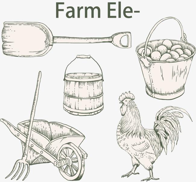矢量手绘农场