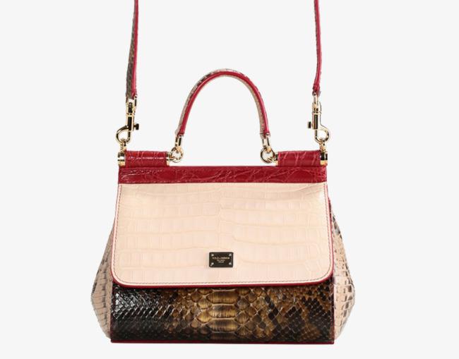 dolce&gabbana蛇皮纹手提包
