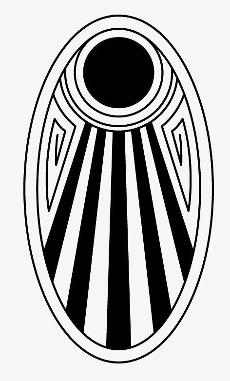 色圆形的椭圆形黑白条纹图案