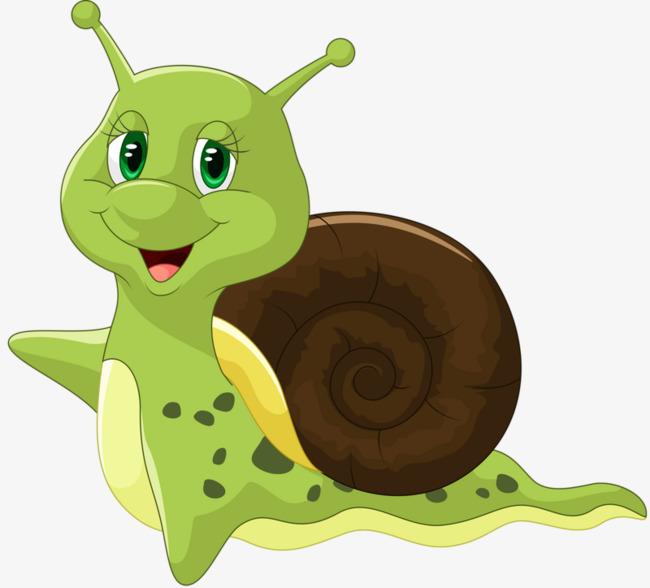 绿色 蜗牛 可爱 手绘             此素材是90设计网官方设计出品,均