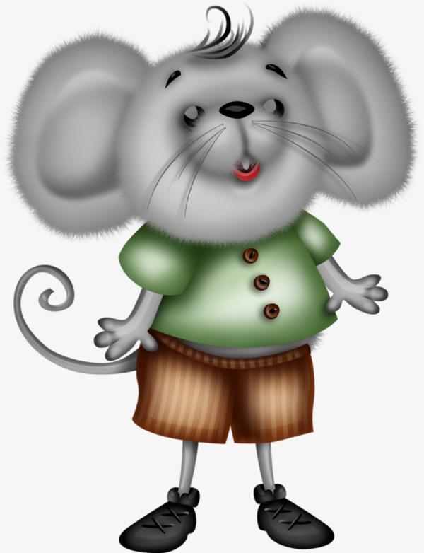 卡通手绘胖老鼠