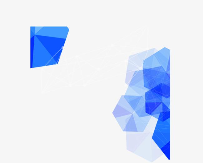 蓝色钻石封面png素材-90设计