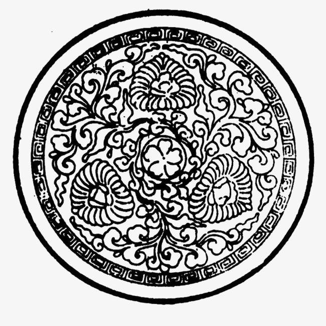 盘子花纹png素材-90设计