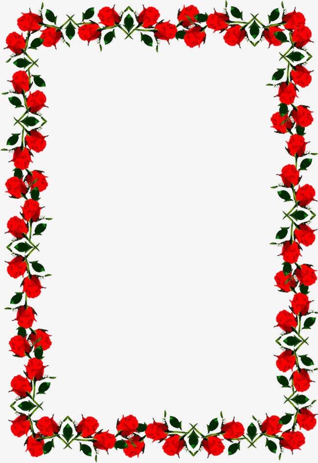 玫瑰花创意边框图片