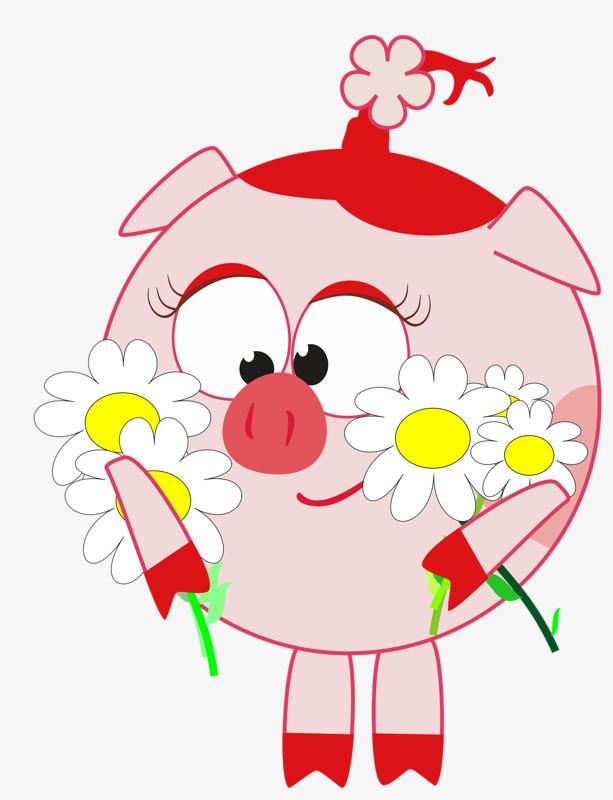 图片 > 【png】 粉色小香猪  分类:手绘动漫 类目:其他 格式:png 体