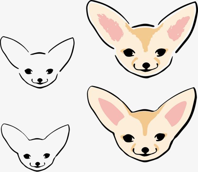 手绘可爱的狐狸