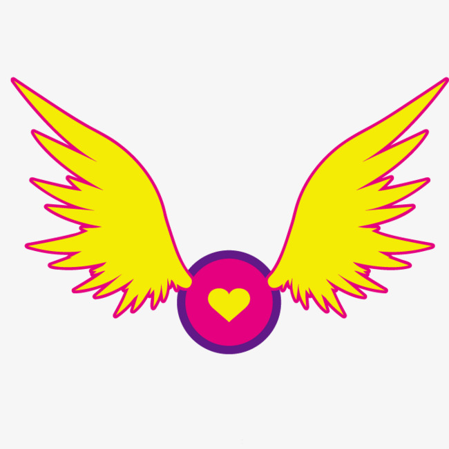 手绘飞动翅膀