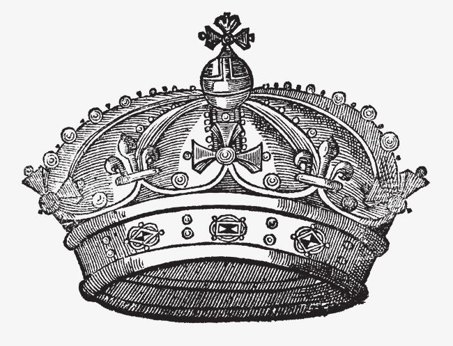 手绘皇冠矢量