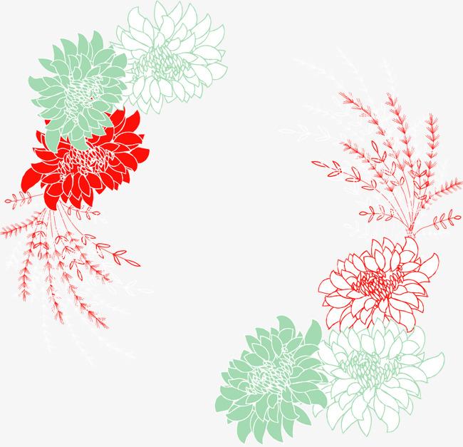 矢量手绘花纹边框