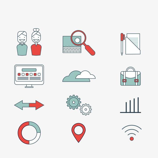 业务元素和图标集图片下载