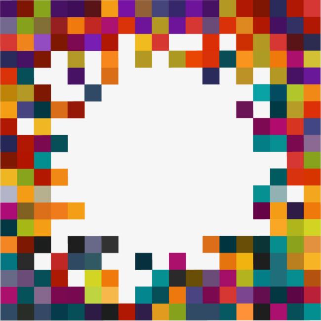 矢量彩色拼图