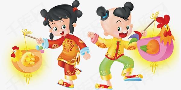 中国风吉祥喜庆娃娃