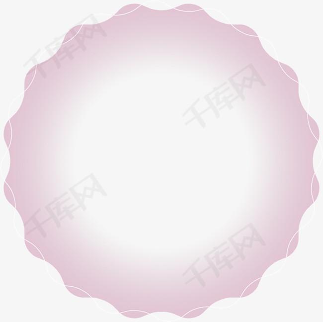 粉色唯美花圈素材
