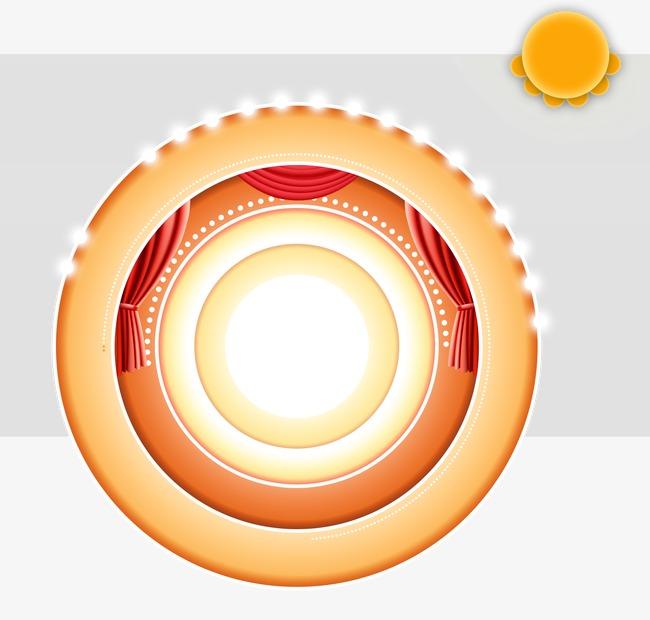 本次圆形字背景作品为设计师木~沐皙创作,格式为png,编号为 16967300