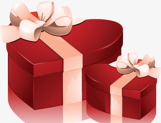 大红色爱心礼盒