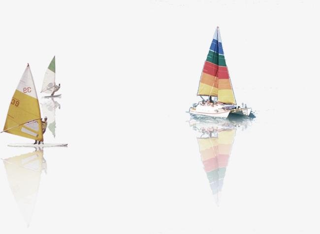 彩色的帆船
