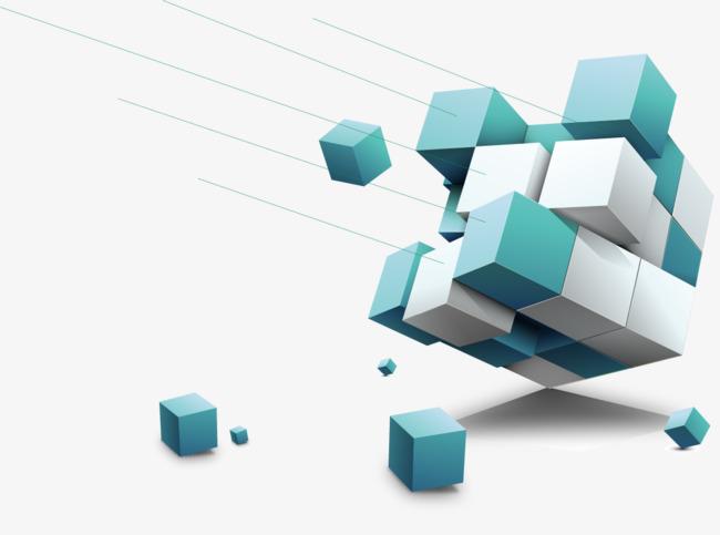 矢量手绘立体方块
