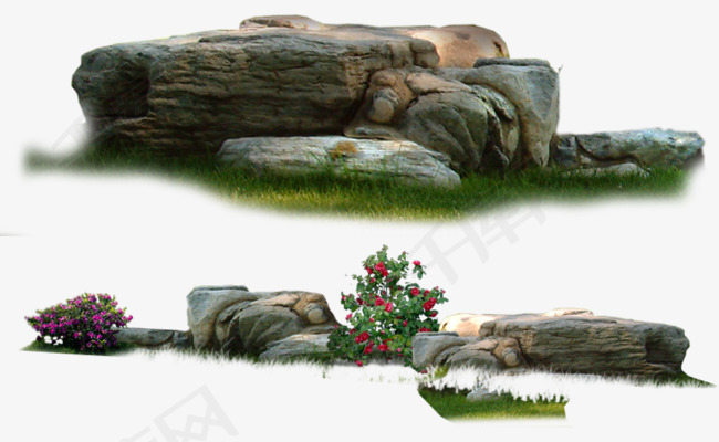 花园公园景观石