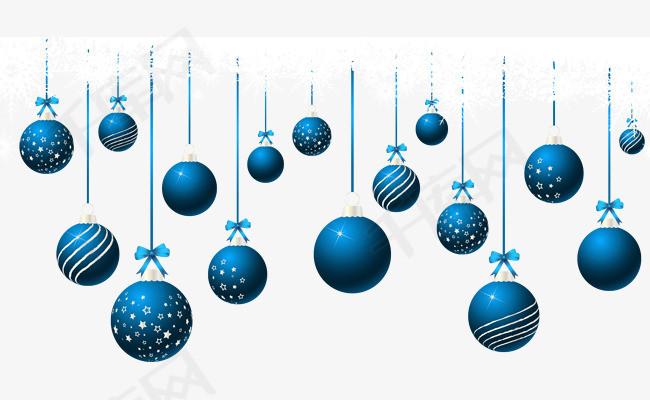 圣诞蓝色吊饰